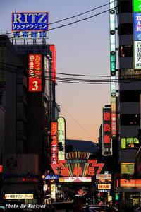 道頓堀、法善寺横丁2012-05-04更新 - 夕陽に魅せられて・・・