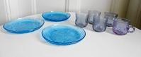 ヌータヤルヴィNuutajarvi社製ファウナFAUNAケーキ皿(ブルー) - 北欧ヴィンテージ.あ!いいって!む!アイテムたち