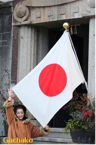 日の丸の国旗 - 赤煉瓦洋館の雅茶子