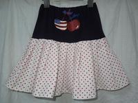 210.アメリカンな2段スカート(再アップ) - フリルの子供服