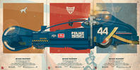 """Blade Runner Police 995 Spinner"" Triptych by Jakob Staermose - 下呂温泉 留之助書店 入荷新着情報"