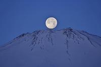 満月が富士山に落ちる時 - デジカメ写真集