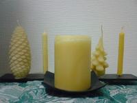 みつろうキャンドルの季節です(^-^) - 手作りみつろう蜜蝋キャンドル|たかこのハーブ園