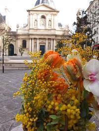 ヴァレンタインの思い出@PARIS - お花に囲まれて