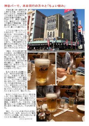 神谷バーで、本日同行の方々と「ちょい飲み」