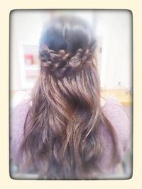 ハーフアップ - 松江市美容室 hair atelier bonet(ヘアアトリエボネット)大人女性のための美容室 。