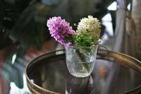吹きガラスライン入り広口花瓶半額 - スペイン・バルセロナ・アンティーク gyu's shop