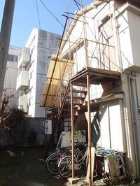 アパートの鉄骨階段過去の不適切な補修工事はすべてやり直して安心の補強見直し - 快適!! 奥沢リフォームなび
