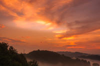 棚田の夜明け@松之山 - デジカメ写真集