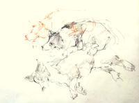 《【アーカイブス】151026『ヤマセミの渓から――― ある谷の記憶と追想》 - 画室『游』 croquis・drawing・dessin・sketch