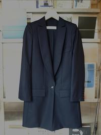 とにかく極上です!tomoumi onoによる『名前の無いブランド』ロングジャケット・ライトコートと共生地のパンツ - contemporary creation+ ART FASHION DESIGN