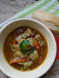 カレースープの朝ごはん - 料理研究家ブログ行長万里  日本全国 美味しい話