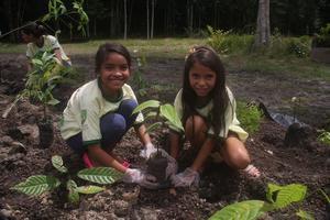 Asfloraヤギ農園での植樹祭 - ブラジル紹介