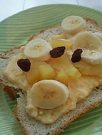 カスタードバナナトーストの朝ごぱん - 料理研究家ブログ行長万里  日本全国 美味しい話