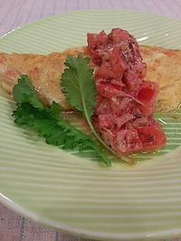 玉ねぎと鮭でオムレツ - 料理研究家ブログ行長万里  日本全国 美味しい話