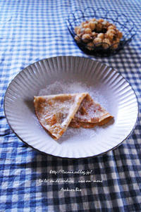 カモミールミルクのパンケーキ。 - Café chez soi~シンプルなおうちおやつ&菜穀ごはん