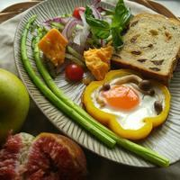 ワンプレート朝ごパン - 料理研究家ブログ行長万里  日本全国 美味しい話