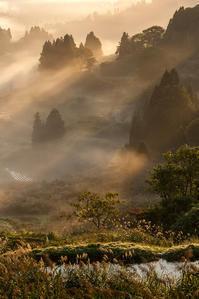 棚田の夜明け - デジカメ写真集