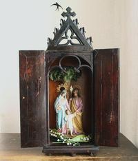 礼拝堂に入った聖家族像  /884 - Glicinia 古道具店