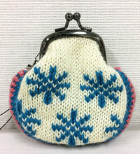 *雪の結晶*がま口 - illustratorで編物製図 広島
