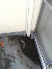 マンションバルコニーのドレン排水口から泡対策の工事をしました - 快適!! 奥沢リフォームなび