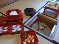 花びら餅お菓子重  琉球漆重箱 - 和のお菓子作り