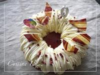 リース風のチーズムースケーキ - cuisine18 晴れのち晴れ