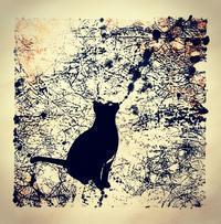 パネル作品〜スタンピングはおもしろい♪ - 書家KORINの墨遊びな日々ー書いたり描いたり