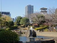 佃島、住吉神社 - 絵を描きながら