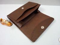 チョコ色の、軽便なコインケース - 革小物 paddy の作品