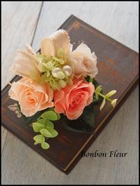 プリザーブドフラワーコサージュ - Bonbon Fleur ~ Jours heureux  コサージュ&和装髪飾りボンボン・フルール