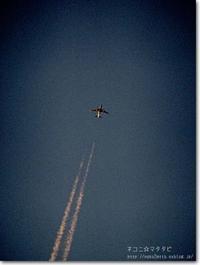【ひ】飛行機雲:ひこうきぐも - ネコニ☆マタタビ