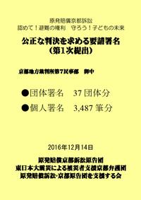 【報告】緊急カンパと公正判決署名の集約状況について - 原発賠償訴訟・京都原告団を支援する会