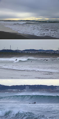2017/01/09(MON) 波がある休日の海辺では.......。 - SURF RESEARCH
