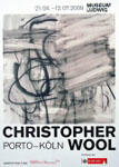 Christopher Wool: Museum Ludwig, 2009 展覧会ポスター - Satellite