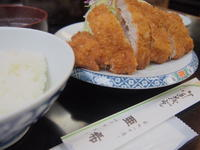 とんかつ定食(ロース):とんかつ・ステーキ亜希(青森市) - 津軽ジェンヌのcafe日記