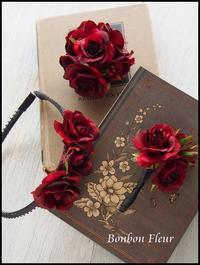 お揃いのコサージュ、ブートニア&カチューシャ - Bonbon Fleur ~ Jours heureux  コサージュ&和装髪飾りボンボン・フルール