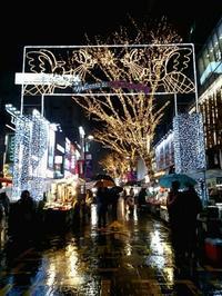今頃ですが明洞12月21日夜のイルミネーション - 札幌で白磁に簡単絵付け Ky's gallery  ポーセラーツ 日記
