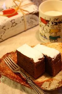 ガトーショコラとホットミルク - Rose ancient 神戸焼き菓子ギャラリー