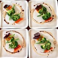 温野菜と甘酒ドレッシング - 玄米菜食 in ニュージャージー