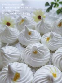 雪のような、真っ白の柚子メレンゲ(パン・スイーツ部門) - nanako*sweets-cafe♪