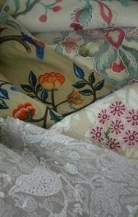 美しき刺繍のインポートファブリック - 手芸noある至福の時間