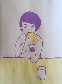 クレープで朝ごはん - たなかきょおこ-旅する絵描きの絵日記/Kyoko Tanaka Illustrated Diary