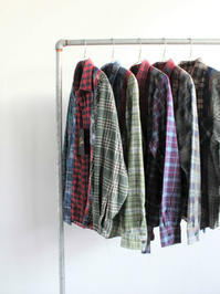 Rebuild By Needles7 Cuts Flannel Shirt - White - 『Bumpkins putting on airs』
