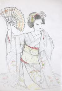 上七軒舞妓さんモデル勝奈ちゃん - 黒川雅子のデッサン  BLOG版