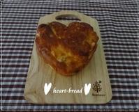 もひとつおまけの・・ハートブレッド☆「パン・スイーツ部門」 - パンのちケーキ時々わんこ