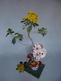 菊の多種挿し - 活花生活(2)