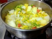 ☆白菜の美味しい味噌仕立て鍋うどん☆ - ガジャのねーさんの  空をみあげて☆ Hazle cucu ☆