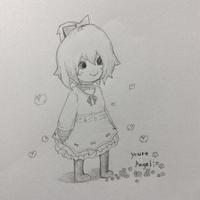 女児のイラスト(未塗装) - 豆大福がてんこもりなブログ2.1