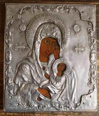 聖母マリアと幼子イエス板絵 オクラッド    /149 - Glicinia 古道具店